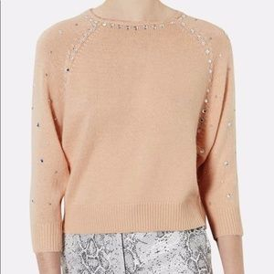 {Topshop} Embellished Sweater